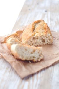 bread on a small plate