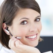 smiling woman on the phone