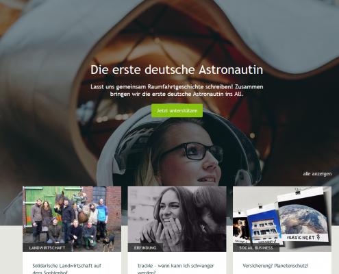 Die einzige deutsche Plattform für Crowdfunding: Startnext