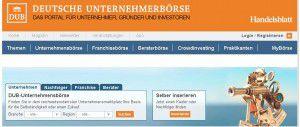 Unternehmen finden - Screenshot dub.de